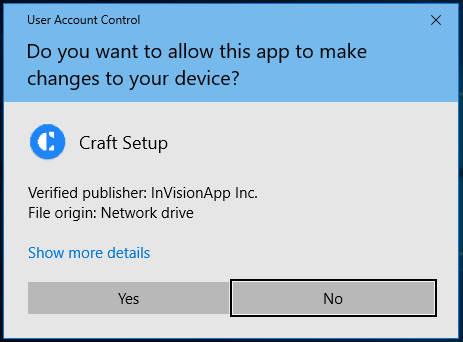 Installing Craft Sync for Windows – InVision Support