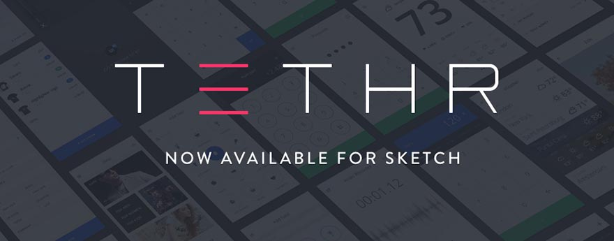 This image shows a preview of UI elements included in the Tethr UI kit.